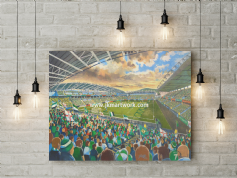 windsor park NI  canvas a3 size